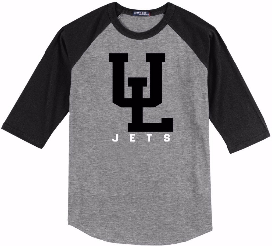 Picture of ULW19 - 3/4 Length Baseball Tee - C