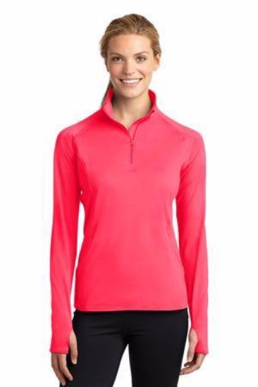 Sport-Tek Ladies Sport-Wick Stretch 1/2-Zip Pullover. LST850