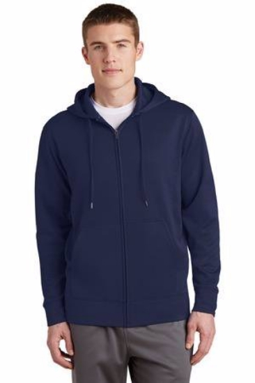 Sport-Tek Sport-Wick Fleece Full-Zip Hooded Jacket.  ST238