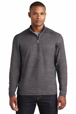 Sport-Tek  Sport-Wick  Stretch Reflective Heather 1/2-Zip Pullover. ST855