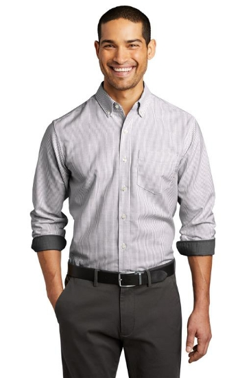 Port Authority  SuperPro  Oxford Stripe Shirt. W657
