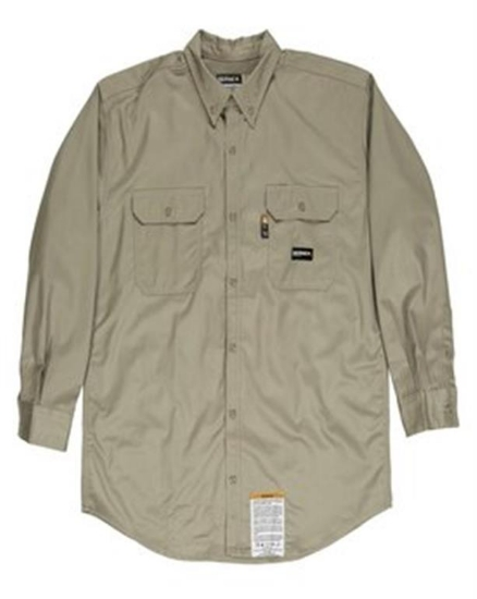 Men's Tall Flame-Resistant Button Down Work Shirt